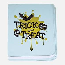 Trick Or Treat Halloween Splat baby blanket