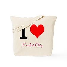 I love Crochet chiq Tote Bag