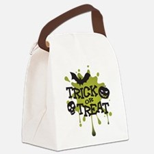 Trick Or Treat Halloween Splat Canvas Lunch Bag