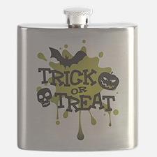 Trick Or Treat Halloween Splat Flask