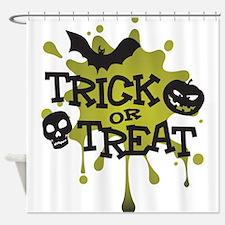 Trick Or Treat Halloween Splat Shower Curtain