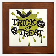 Trick Or Treat Halloween Splat Framed Tile