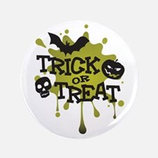 "Trick Or Treat Halloween Splat 3.5"" Button (100 pa"