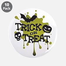 "Trick Or Treat Halloween Splat 3.5"" Button (10 pac"