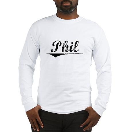 Phil, Vintage Long Sleeve T-Shirt
