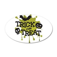 Trick Or Treat Halloween Splat Wall Decal