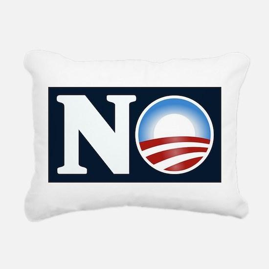 NO (to Obama) Rectangular Canvas Pillow