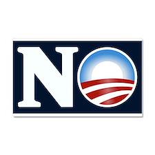NO (to Obama) Car Magnet 20 x 12