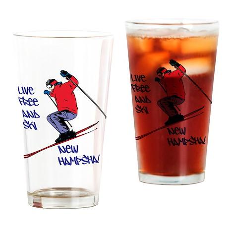 Ski New Hampsha Drinking Glass