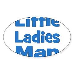 Little Ladies Man Oval Sticker