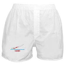 i swim (girl) red suit Boxer Shorts