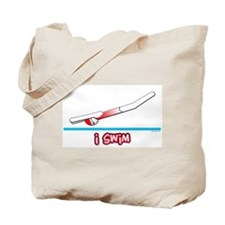 i swim (girl) red suit Tote Bag