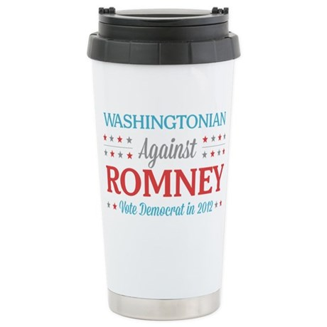 Washingtonian Against Romney Stainless Steel Trave
