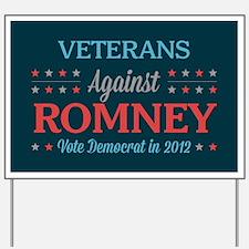 Veterans Against Romney Yard Sign