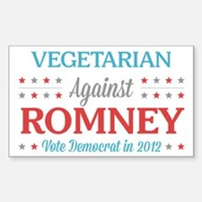 Vegetarian Against Romney Decal