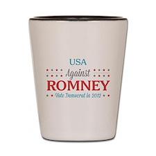 USA Against Romney Shot Glass