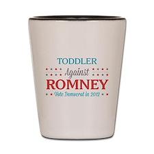Toddler Against Romney Shot Glass