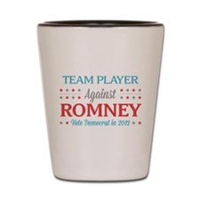 Team Player Against Romney Shot Glass