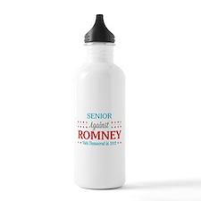 Senior Against Romney Water Bottle