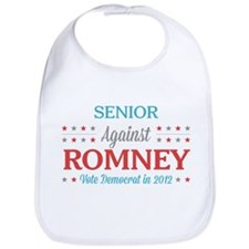 Senior Against Romney Bib