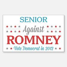 Senior Against Romney Decal