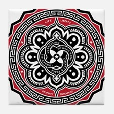 Voluntaryist Arabesque Tile Coaster