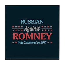 Russian Against Romney Tile Coaster