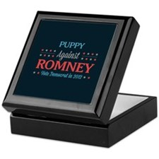 Puppy Against Romney Keepsake Box