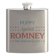 Puppy Against Romney Flask