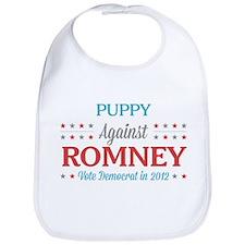 Puppy Against Romney Bib