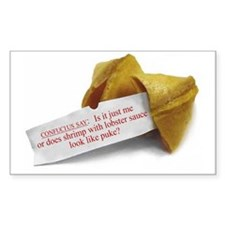 Confucius Fortune Cookie - Rectangle Decal