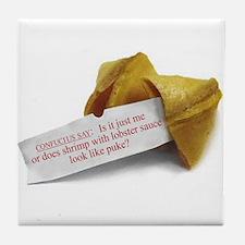 Confucius Fortune Cookie - Tile Coaster