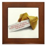Confucius Fortune Cookie - Framed Tile