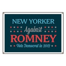New Yorker Against Romney Banner