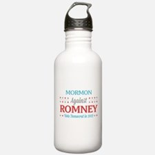 Mormon Against Romney Water Bottle