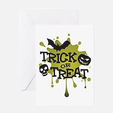 Trick Or Treat Halloween Splat Greeting Card