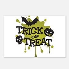 Trick Or Treat Halloween Splat Postcards (Package