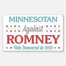 Minnesotan Against Romney Sticker (Rectangle)