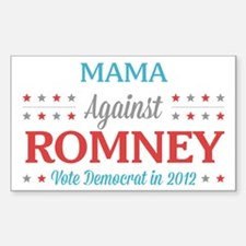 Mama Against Romney Decal