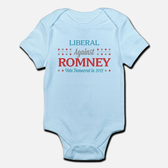 Liberal Against Romney Infant Bodysuit
