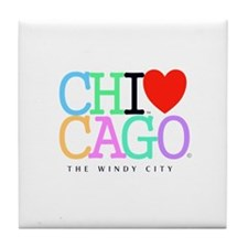 Chicago The Windy City Classic Rainbo Colors Tile