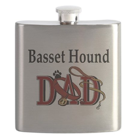basset hound dad darks.png Flask