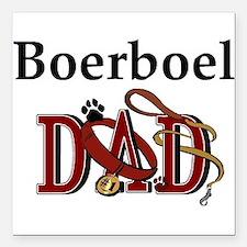 "boerboel dad darks.png Square Car Magnet 3"" x 3"""