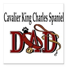 cavalier king charles dad darks.png Square Car Mag
