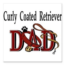 Curly Coated Retriever Tranz.png Square Car Magnet