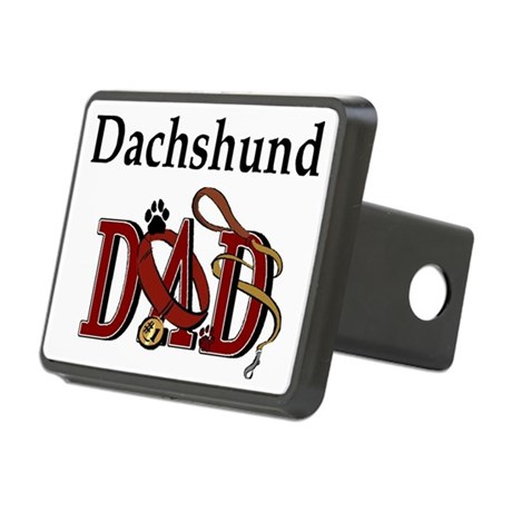 dachshund dad darks.png Rectangular Hitch Cover