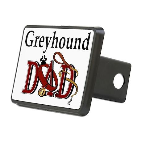 greyhound dad darks.png Rectangular Hitch Cover