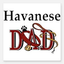 "Havanese Tranz.png Square Car Magnet 3"" x 3"""