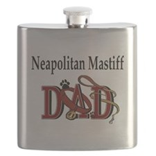 neapolitan mastiff dad trans.png Flask