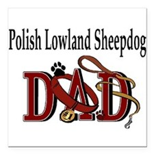 "polish lowland dad trans.png Square Car Magnet 3"""